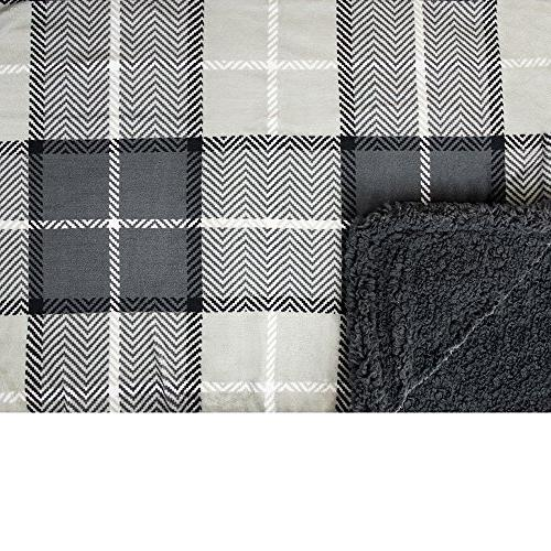 PAVILIA Premium Sherpa Blanket for Couch Sofa   Reversible   All Fleece