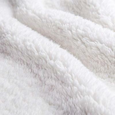 Sherpa Fleece Blanket Twin Size Red Plush Fuzzy Soft
