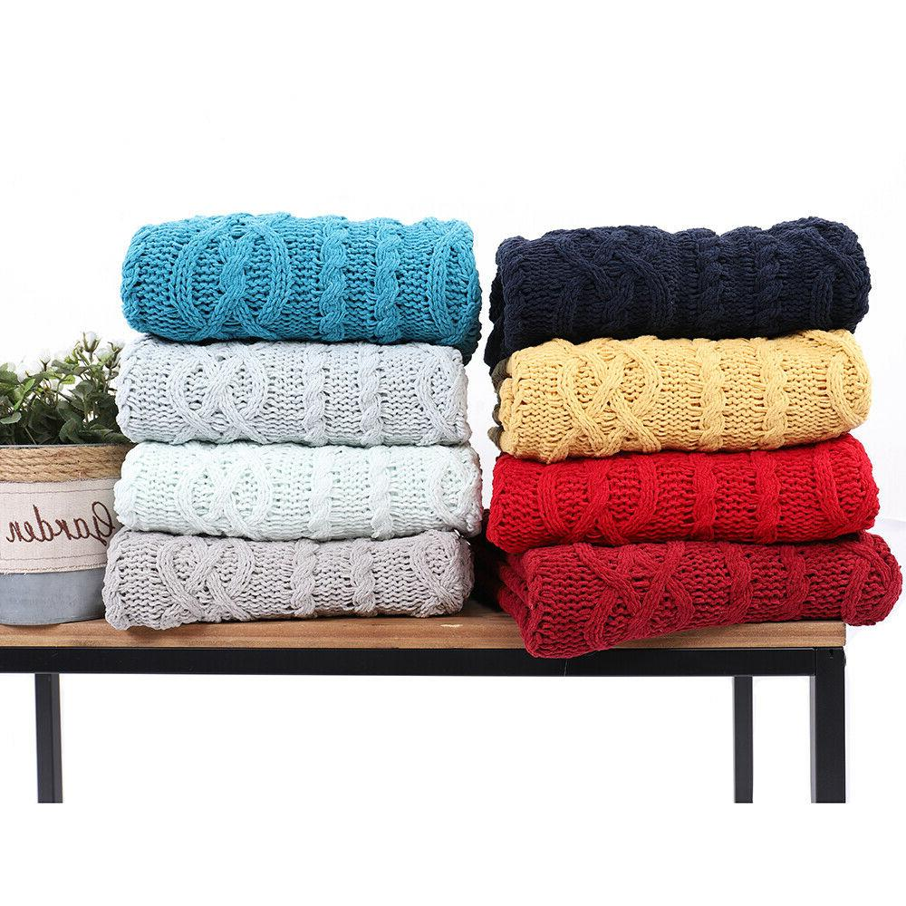 shibles knitted luxury chenille throw blanket