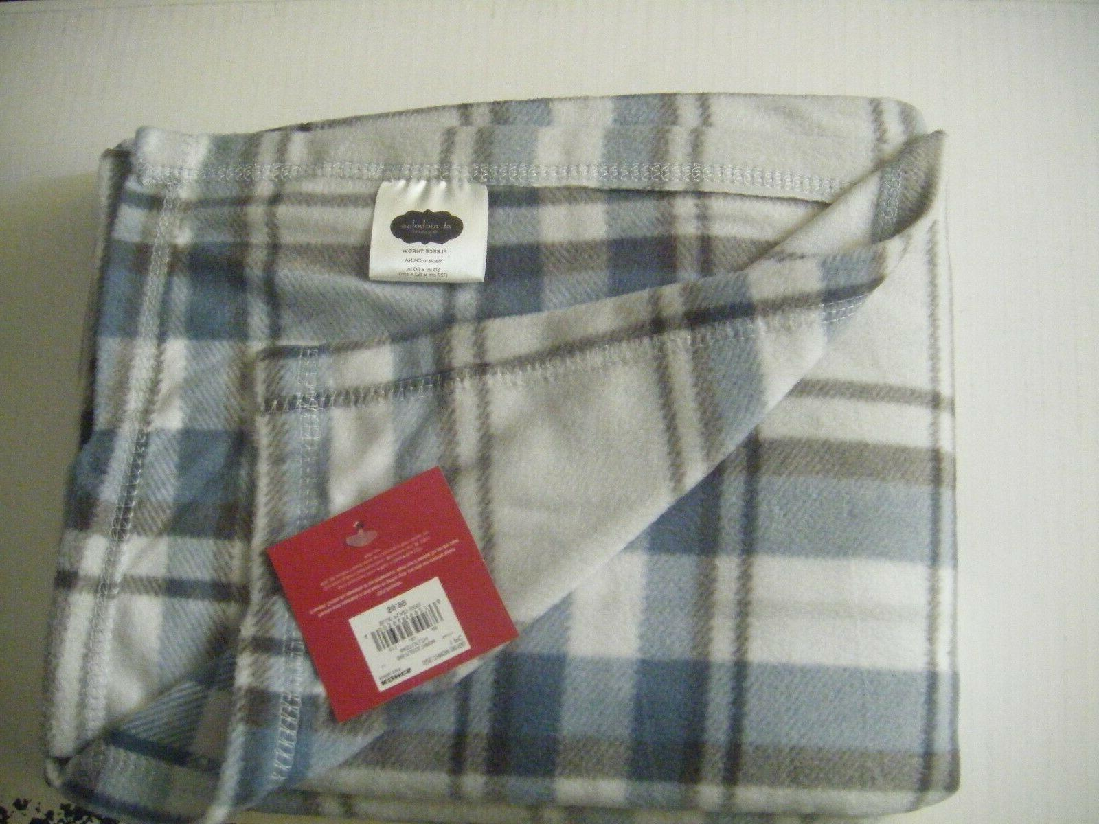 Silver Blue Throw Blanket NICE 60 X 60 Fall Winter Extra Cover