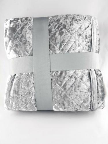 Silver Gray Blanket Garden 50 60 New