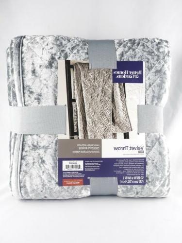 silver gray velvet throw blanket better homes