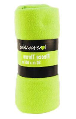 Imperial Home 50 x 60 Inch Soft Cozy Fleece Blanket / Fleece