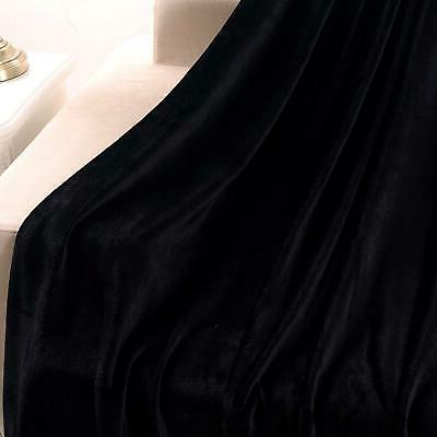 "Exclusivo Mezcla Soft Fleece Velvet Plush Throw Blanket x 60"""