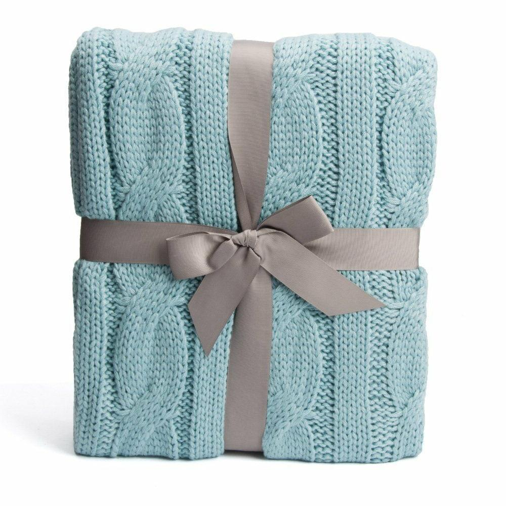 """Cable Throw Blanket, 50"""" W x L"""