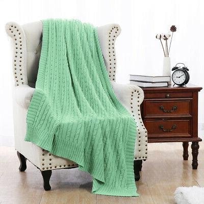 Soft Throw Bed Sofa Couch Decorative Cable