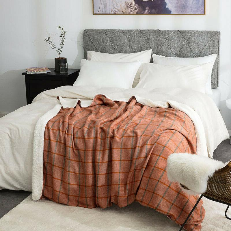 Bedsure Lightweight Sherpa Blanket for Couch