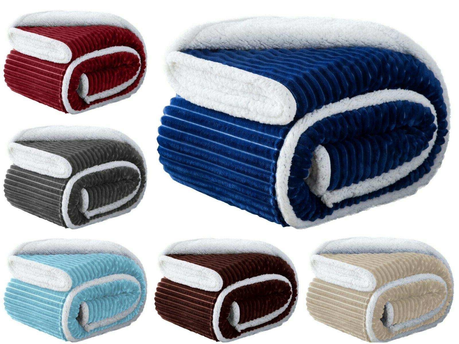 soft plush and fuzzy throw sherpa lined