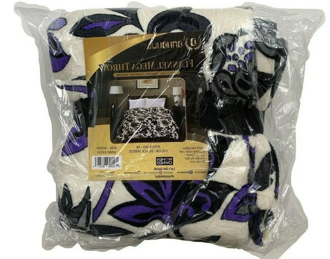Soft plush Throw Full&Queen White Brand
