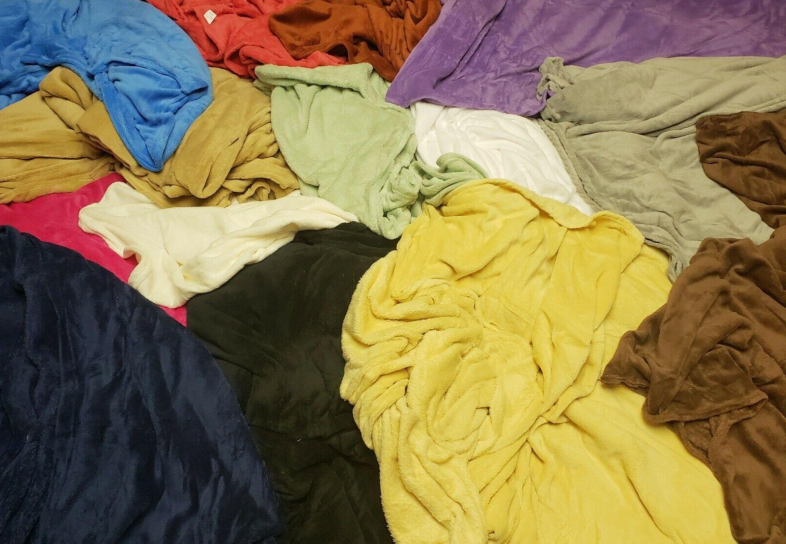 soft plush solid throw blanket 16 vibrant