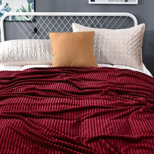 Soft Stripped Throw Blanket Couch Sofa Decor