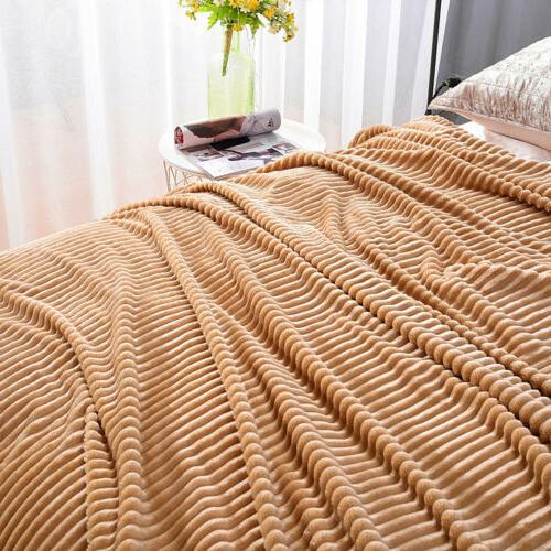 Soft Fleece Throw Warm Couch