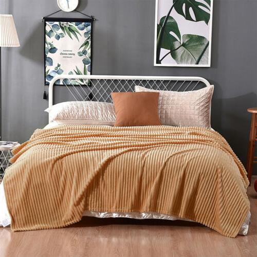 Soft Flannel Throw Couch Sofa Bed Decor