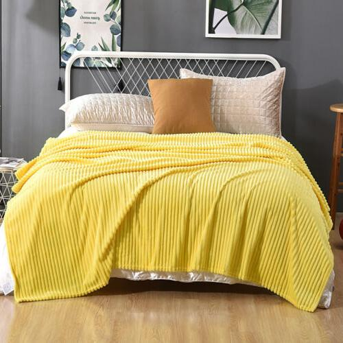 Soft Stripped Throw Couch Decor