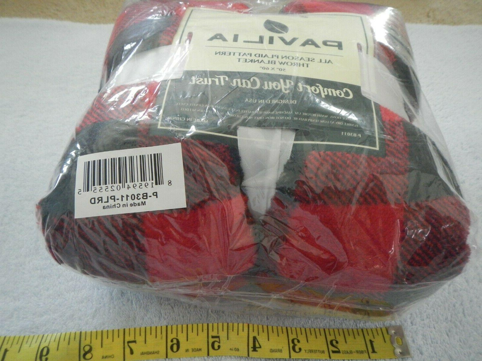 BLANKET BLACK RED - X NEW - P-B3011