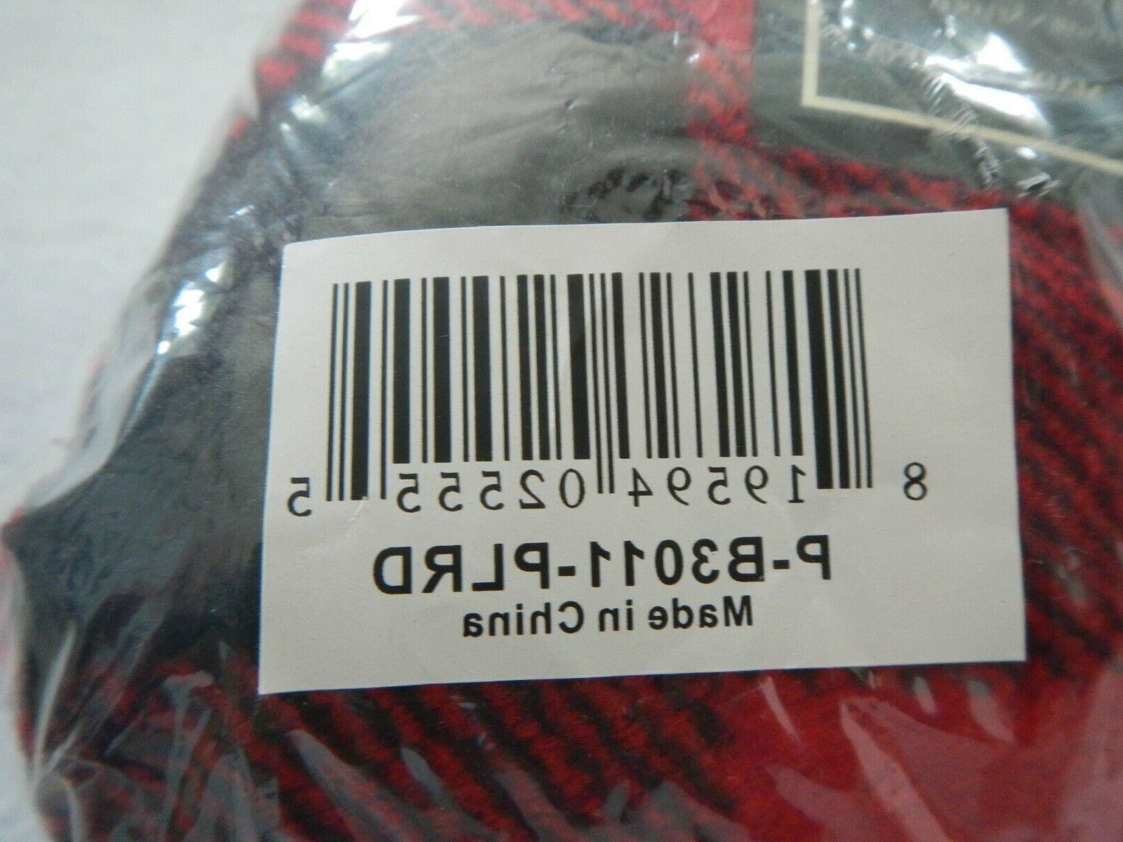 """PAVILIA BLANKET - RED PLAID X 60"""" NEW - P-B3011"""