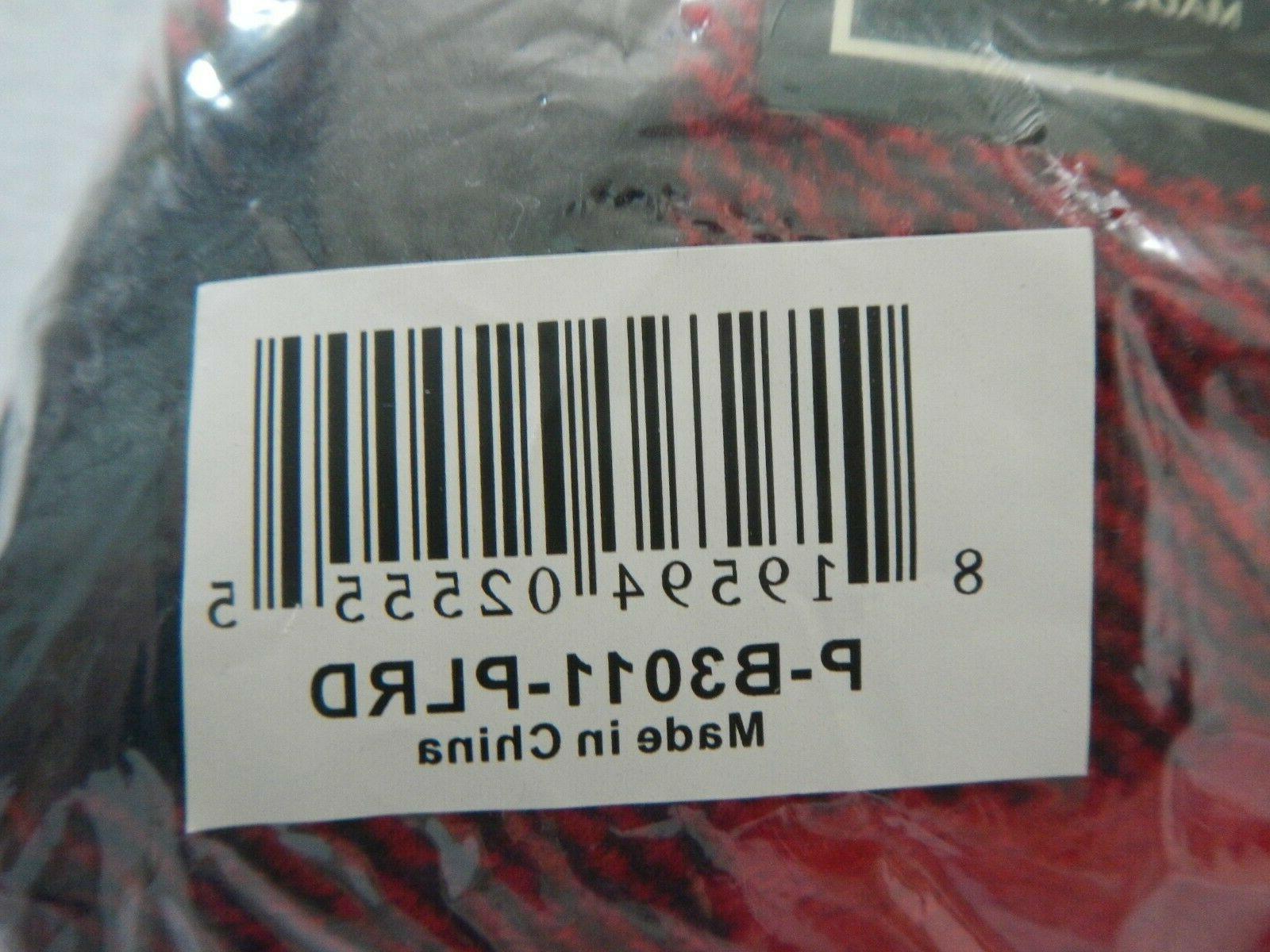 "BLANKET - RED PLAID - 50"" X 60"" -"