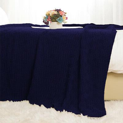 Soft Cable Throw for Home