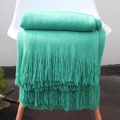 """Soft Solid Cable Knitted Home Sofa 50""""x60"""""""