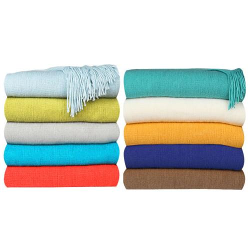 soft warm blanket textured solid cable knitted