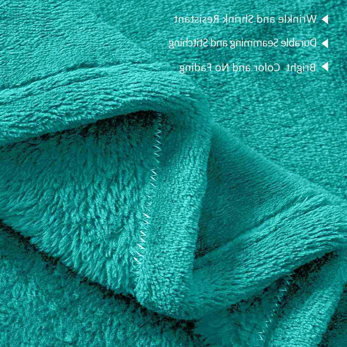 "Soft Plush Fleece Blanket Solid Flannel Blanket Sofa Bed 90""X90"""