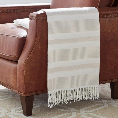 """Stone & Beam Striped Throw Blanket, Soft and Easy Care, 80"""""""