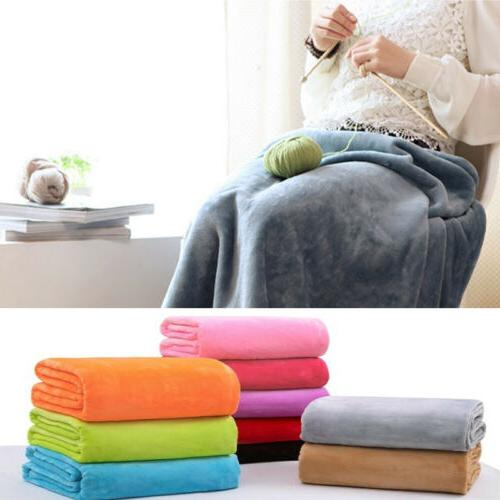 Summer Soft Warm Micro Plush Fleece Throw Rug Blanket Room
