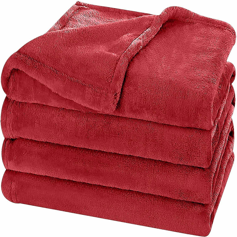 Super Soft Flannel Fleece Blanket Lightweight Bed Warm Blank