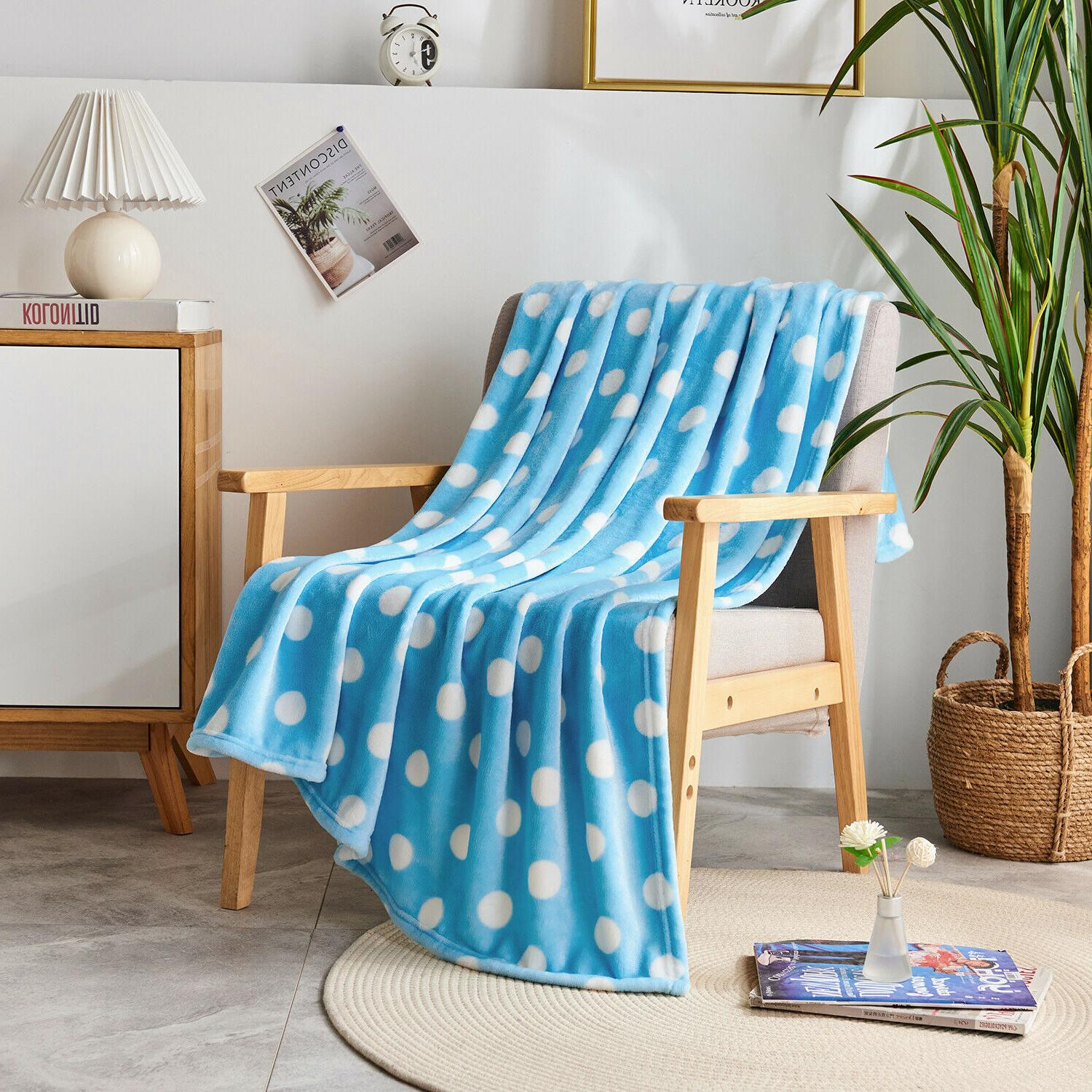 Super Soft Fleece Throw Blanket for Couch Bed Chair