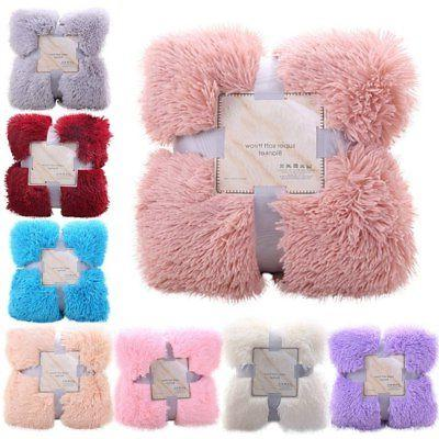 Fur Blanket Shaggy Cozy Bedding 1.6*2M