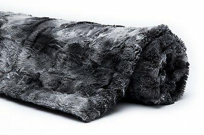 Chanasya Fur Charcol Gray Sherpa Throw Blanket Charcoal