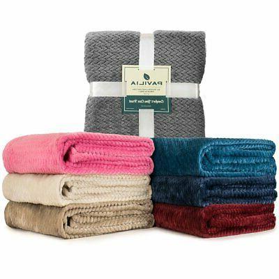 super soft lightweight fleece warm throw blanket