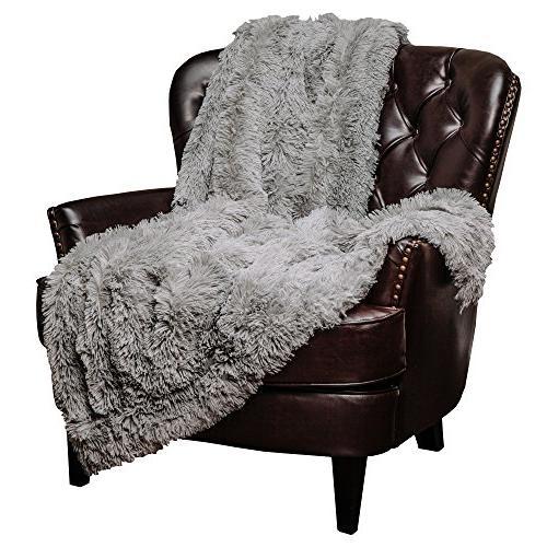 "Throw Soft Long Shaggy Fur Faux Warm 50""x65"""