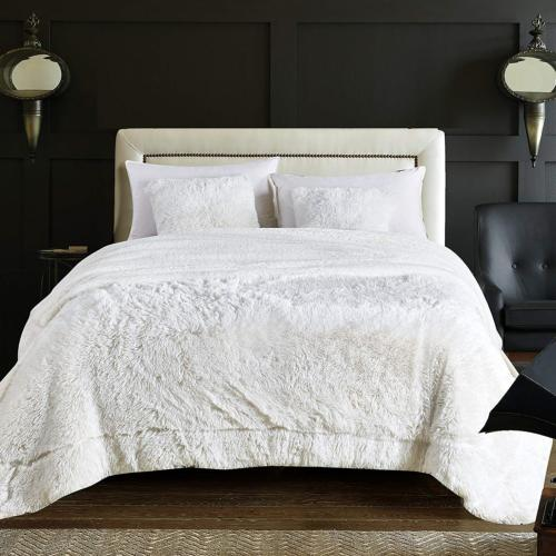 White Blanket Long Shaggy Chic Fuzzy Cozy