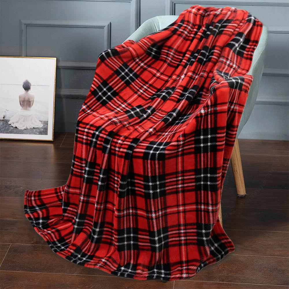 """Super Soft Plush Fleece Throw Blanket Light Weight 50"""" x 60"""""""