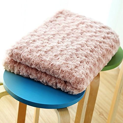 Simple&Opulence Soft Microfiber Stereo Rose Furnishing Throw