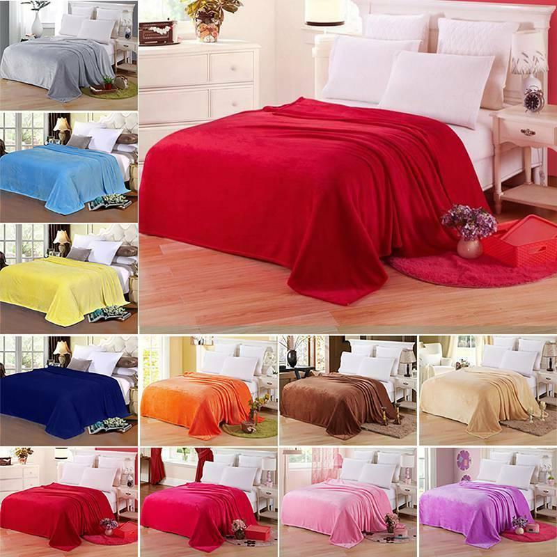 Sofa Home Bed Fleece Twin Queen King Warm Throw Super Soft P