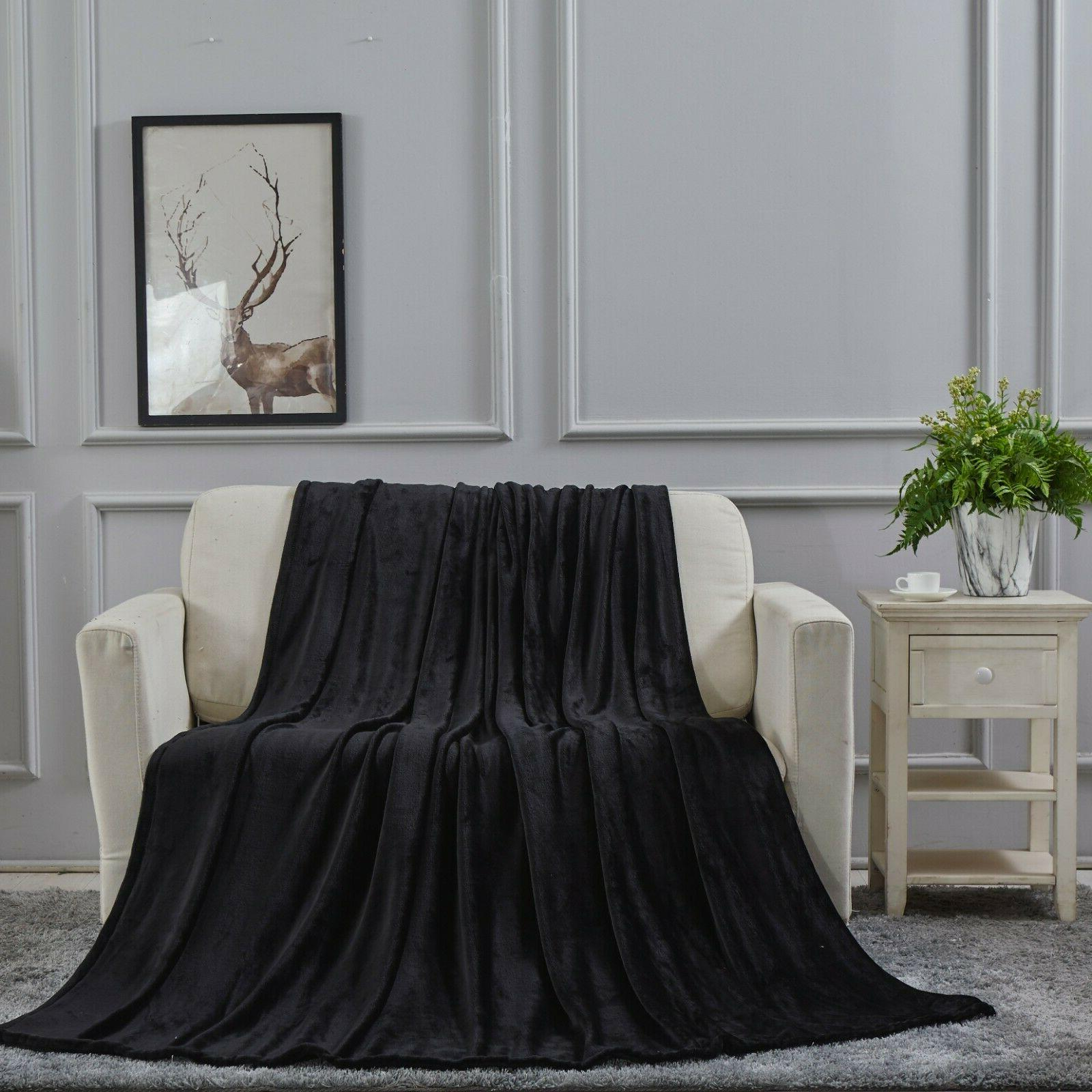 super soft ultra plush microfiber solid throw
