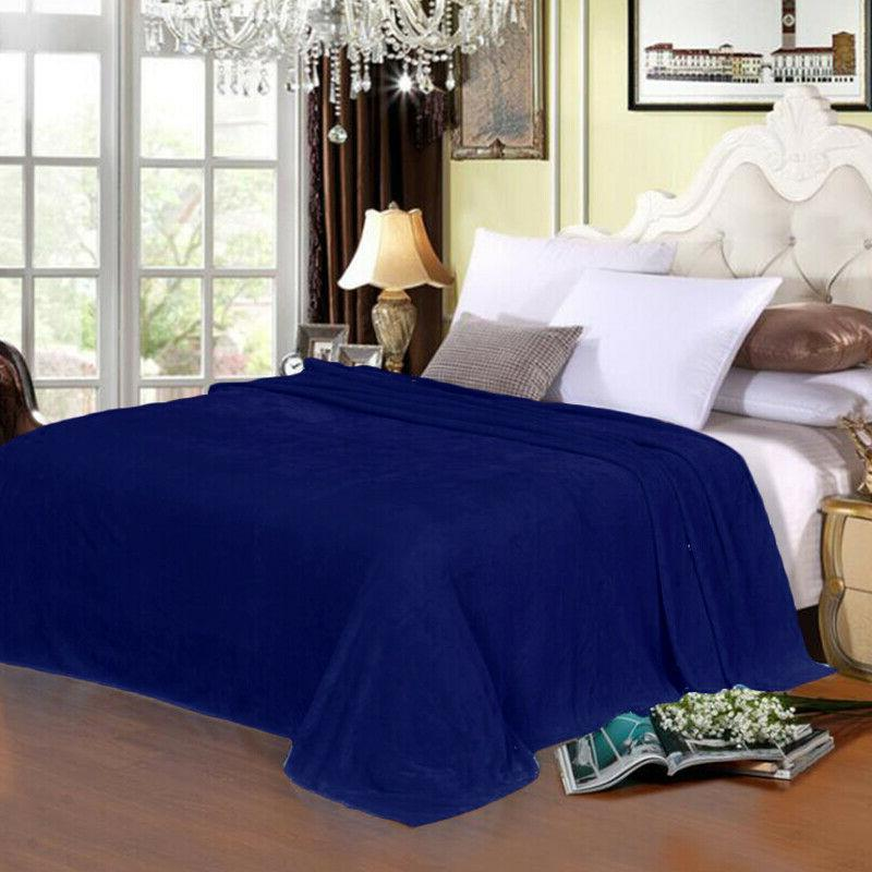 Sherpa Luxury Fleece Throw for Bed