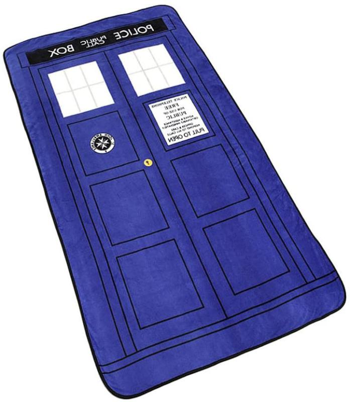 Doctor Who Tardis Phone Booth Oversized Micro Raschel Throw