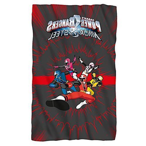 team ninja steel fleece throw