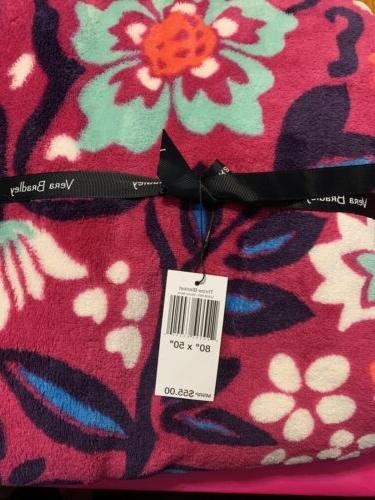 throw blanket bloom berry pattern 80 x