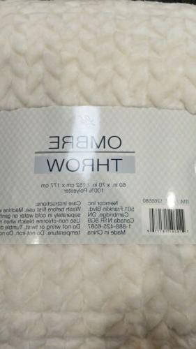 throw blanket cream tan 60 x 70