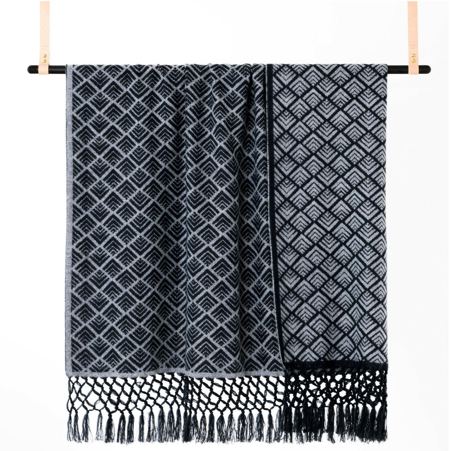 throw blanket hand woven fringe soft cozy