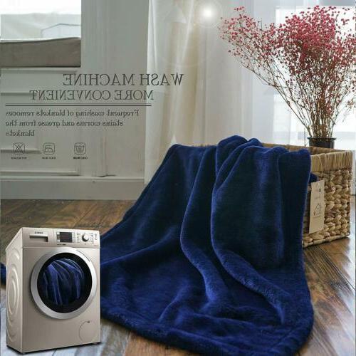 Throw Blanket Plush Twin King Breathable