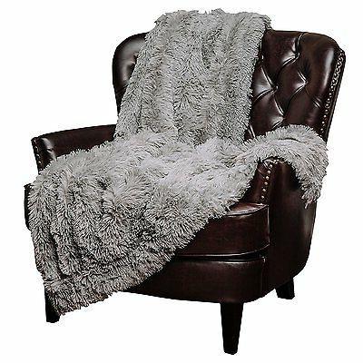 """Throw Blanket Shaggy Faux Warm Fluffy Sherpa 50""""x65"""""""