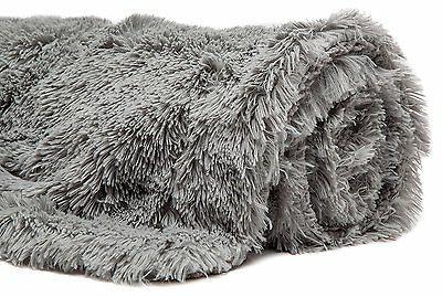 """Throw Blanket Shaggy Fuzzy Warm Fluffy Sherpa 50""""x65"""""""