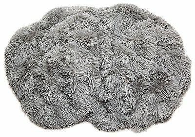 "Throw Blanket Shaggy Fur Warm Sherpa Gray 50""x65"""