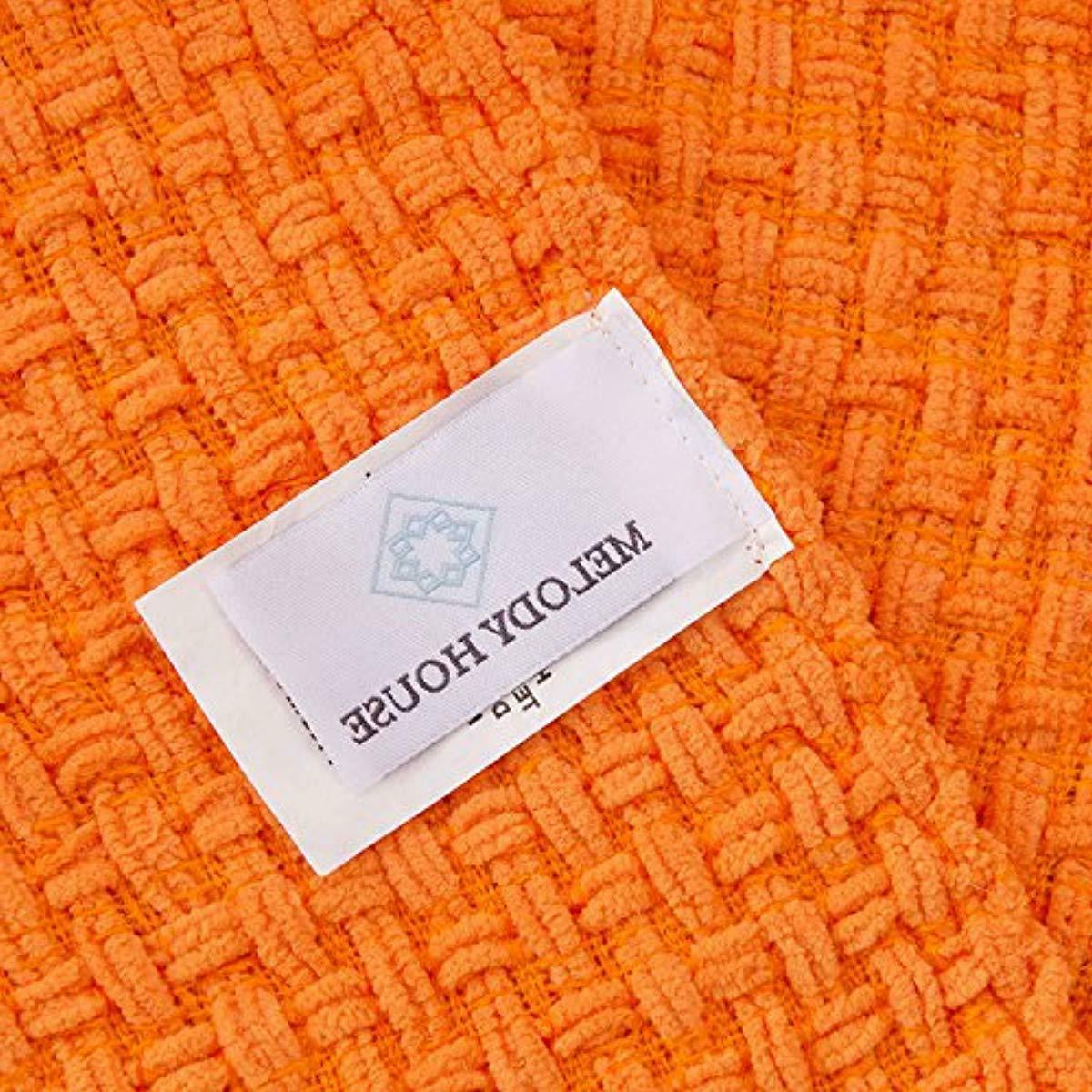 Orange Woven Pattern Autumn Melody