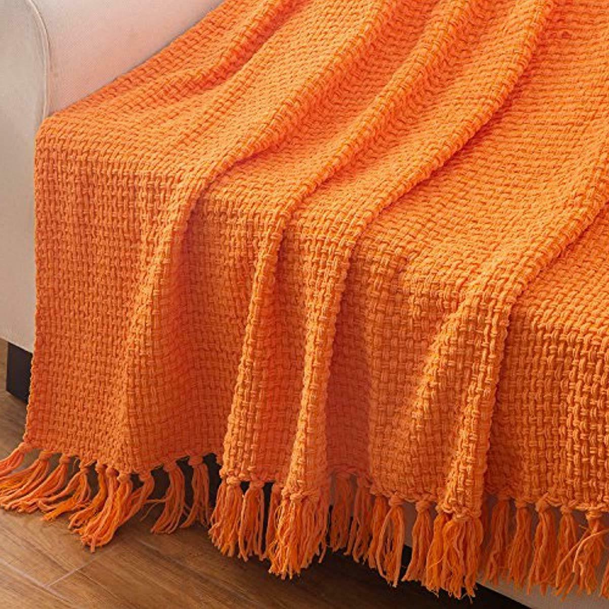Throw Orange Pattern